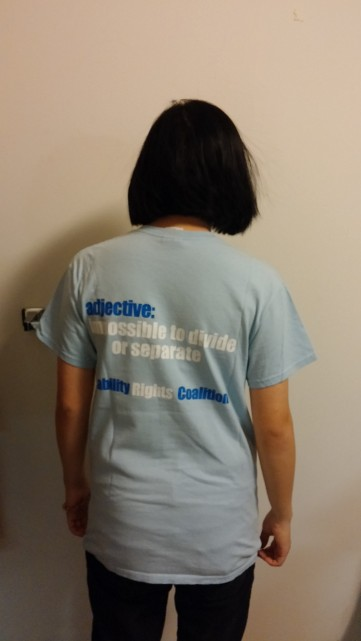 American University Disability Rights Coalition shirt back